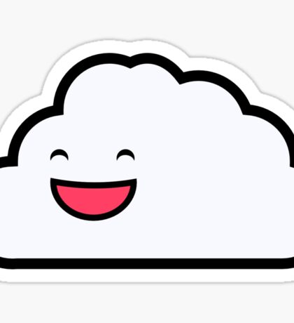 Carl the Friendly Cloud Sticker