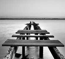Dilapidation - Cleveland Jetty Qld Australia by Beth  Wode