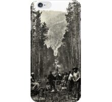 """""""Cutting the boundary line"""" iPhone Case/Skin"""