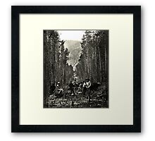 """Cutting the boundary line"" Framed Print"