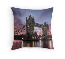 Tower Bridge Sunset Throw Pillow