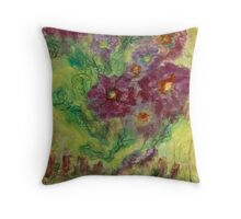A Handful of My Flowers... Throw Pillow