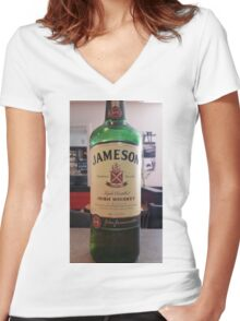 JAMESON! Women's Fitted V-Neck T-Shirt