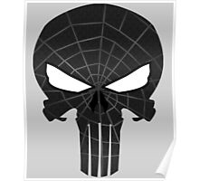 SpiderPunisher Black Poster