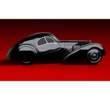 3d Classic Car - Bugatti Type 57sc Atlantic  Photographic Print