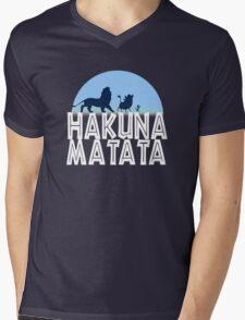 HAKUNA MATATA (night edition) Mens V-Neck T-Shirt
