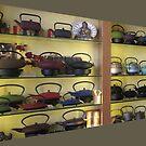 Tea Pots on Display........... by Brenda Dow