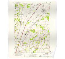 USGS Topo Map Oregon Gervais 280013 1957 24000 Poster