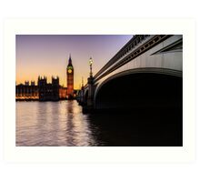Big Ben at sunset  Art Print