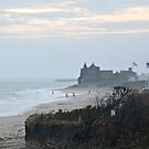 Misty Beach at Dusk - After Hurricane Irene  by Jack McCabe