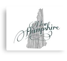 New Hampshire State Typography Canvas Print