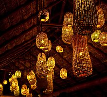 Wicker Lampshades Galore by phil decocco