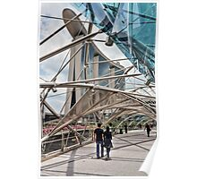 Helix Bridge in front of Marina Bay Sands Poster