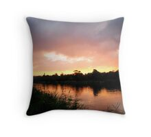 Reedy Sunset on Barwon Throw Pillow