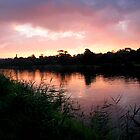 Pink Sunset over the Barwon by ShineArt