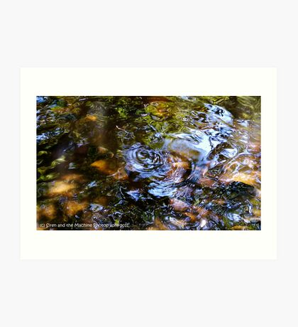 Ripples in the water Art Print