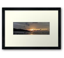 Phuket Sunset  September 2011 Framed Print