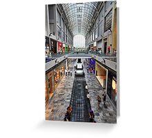 Shopping Arcade Marina Bay Sands Expo & Convention Centre Greeting Card