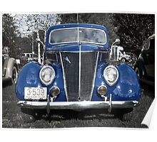 Antique 1937 on Cruise Night - Oak Harbour - Exeter RI Poster