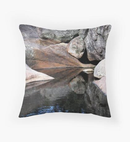 Reflection at Venus Baths Throw Pillow