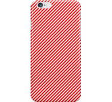Christmas Red & White Micro Diagonal Candy Cane Stripe iPhone Case/Skin