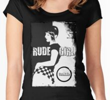Rude Girl  Women's Fitted Scoop T-Shirt