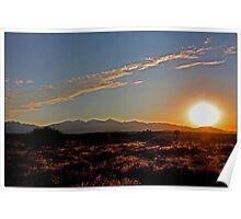 High Desert Sunset Poster