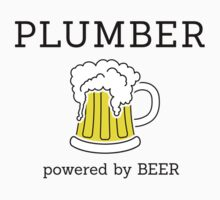 Plumber powered by beer by Stock Image Folio