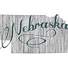 Nebraska State Typography by surgedesigns