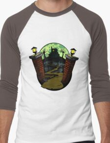 Drawlloween 2015 -  Haunted House Men's Baseball ¾ T-Shirt