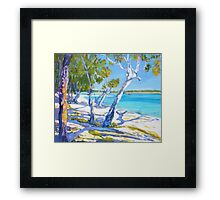 Bribie Beach Sunny Sunday Framed Print
