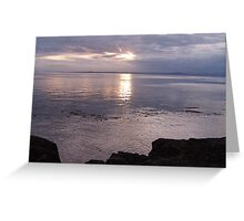 Muted Sunset at Lime Kiln Park 2 Greeting Card