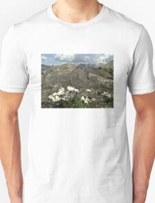 Daisies on mountains  Unisex T-Shirt