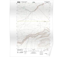 USGS Topo Map Oregon Potters Ponds 20110826 TM Poster