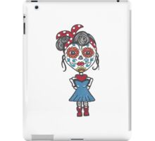 Day of the Dead Rockabilly Girl iPad Case/Skin