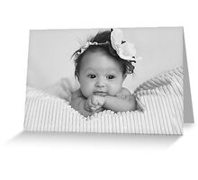 Little miss L :) Greeting Card