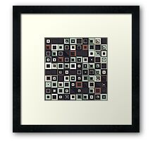Lost in Squares II Framed Print