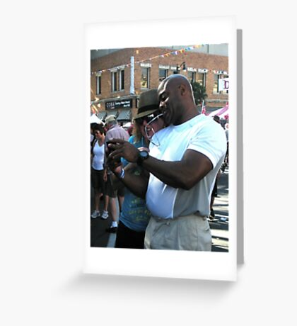 """""""Cell Phone Photo Review"""" Greeting Card"""