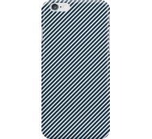 Midnight Blue & White Micro Christmas Candy Cane Diagonal Stripe iPhone Case/Skin