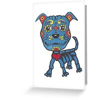 Day of the Dead Pit Bull Greeting Card