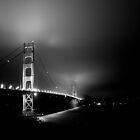 Golden Gate bridge at night by Arjuna Ravikumar