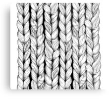 Knitted Metal Print