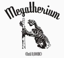 Megatherium (Until 8000BC) - black by cupofmanatee