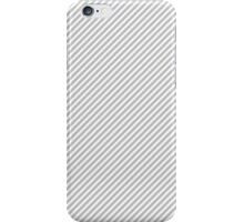Christmas Silver & White Micro Candy Cane Diagonal Stripe iPhone Case/Skin