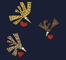 Heart Birds One Piece - Short Sleeve