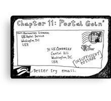 Chapter 11: Postal Goin' Canvas Print