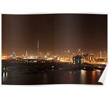Burj Khalifa and Sheikh Zayed Rd skyline Poster