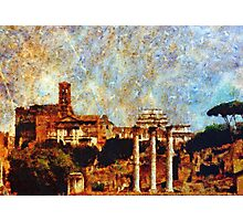 Temple of Castor and Pollux, The Forum,  Rome Photographic Print