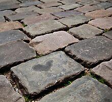 cobblestone love heart by Martin Pot