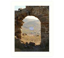 The Greek Flag Art Print
